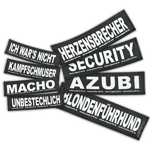 Julius K9 Klettsticker Größe L Security