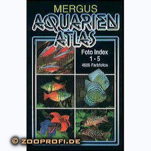 Mergus Aquarien Atlas FOTO Index 1 - 5 + Register 6 Gebunden Kunstleder